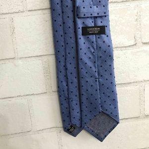 NORDSTROM Blue POLKA DOT Skinny Tie